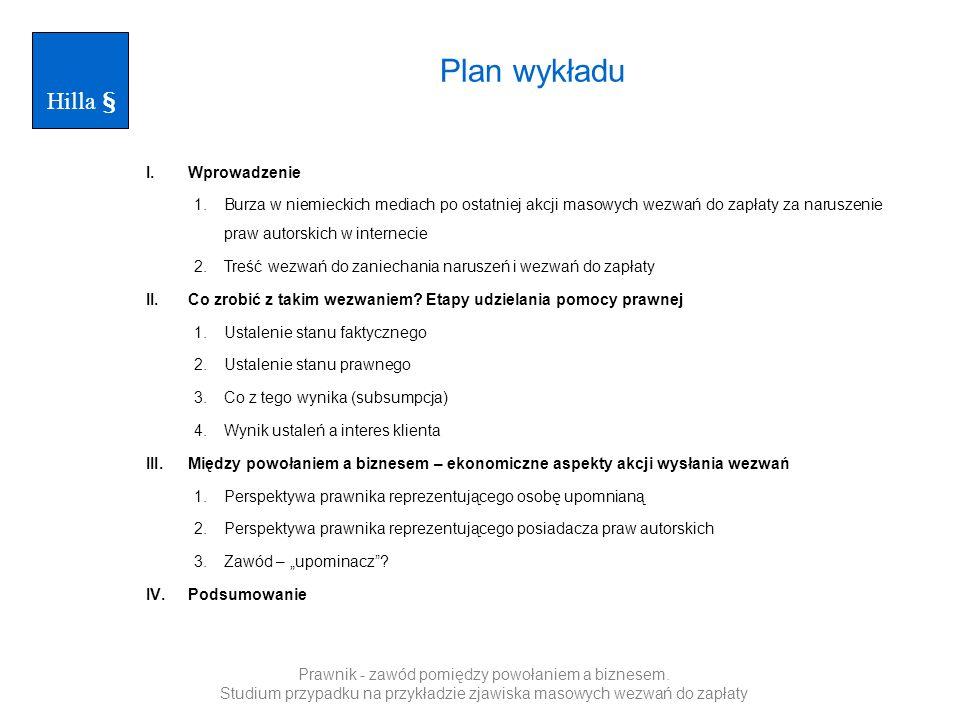 Plan wykładu Hilla § Wprowadzenie