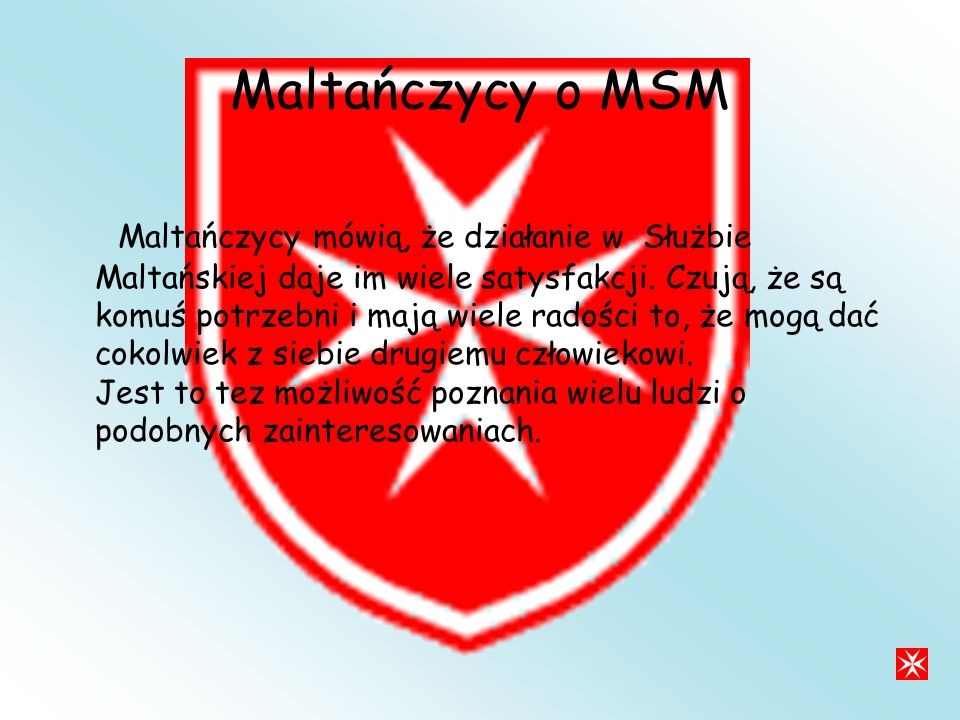 Maltańczycy o MSM