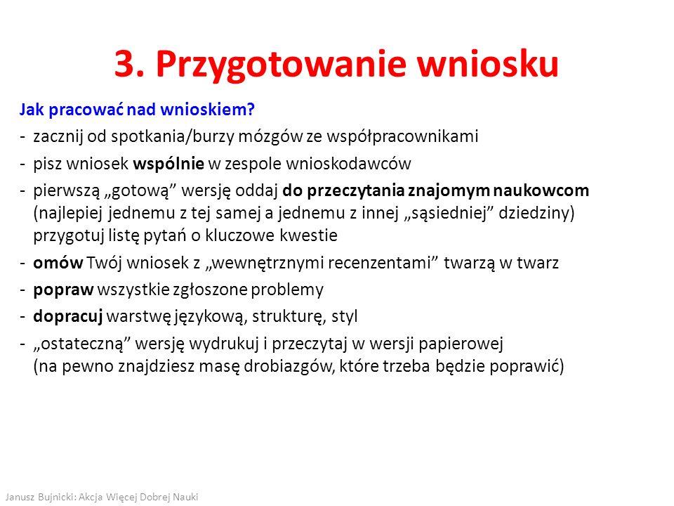 3. Przygotowanie wniosku