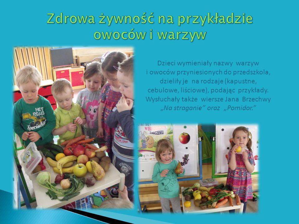 Zdrowa żywność na przykładzie owoców i warzyw