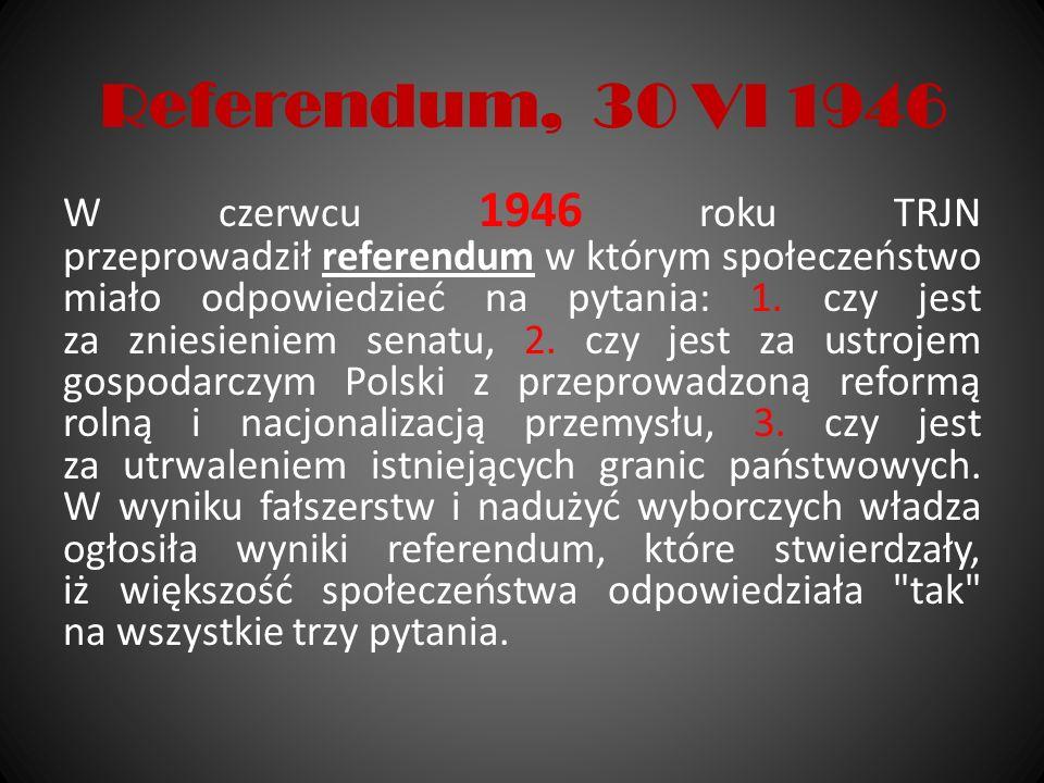 Referendum, 30 VI 1946