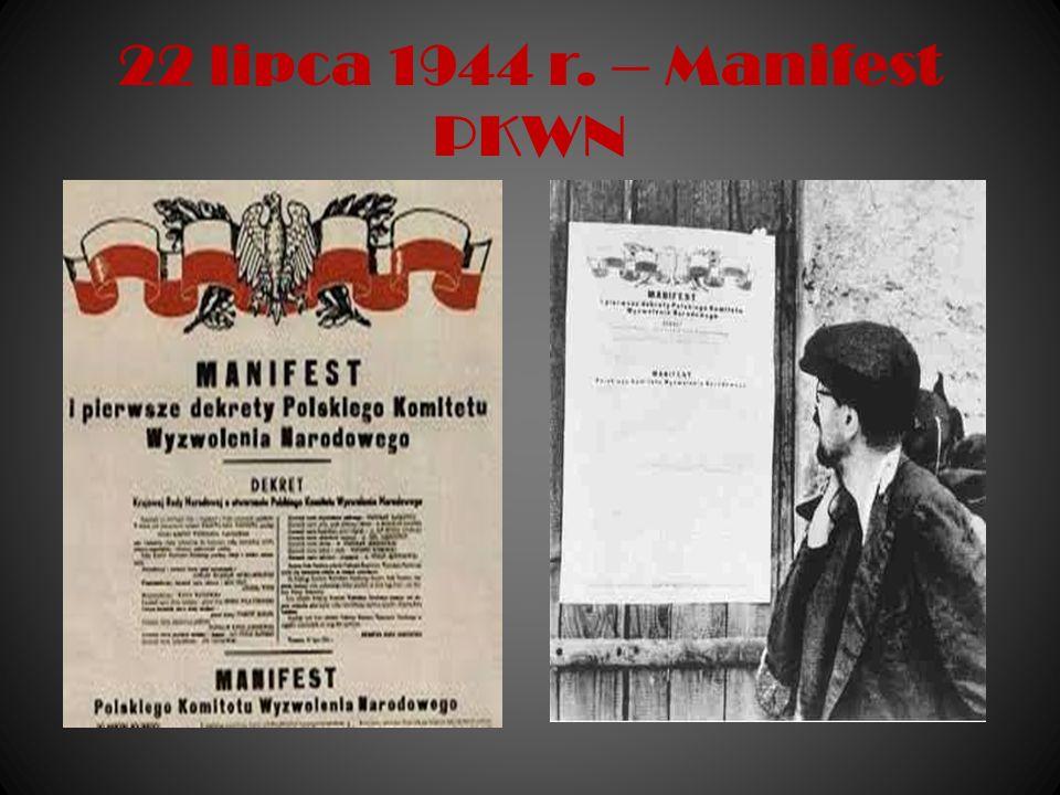 22 lipca 1944 r. – Manifest PKWN