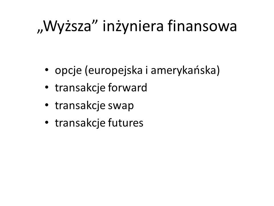 """""""Wyższa inżyniera finansowa"""
