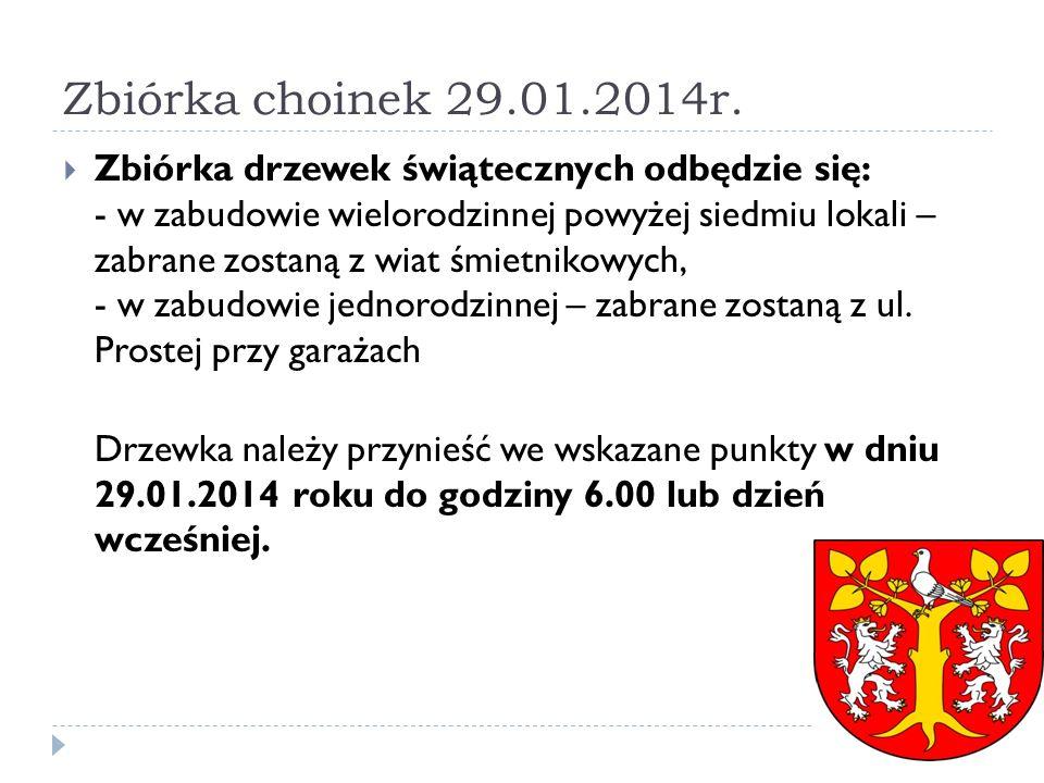 Zbiórka choinek 29.01.2014r.