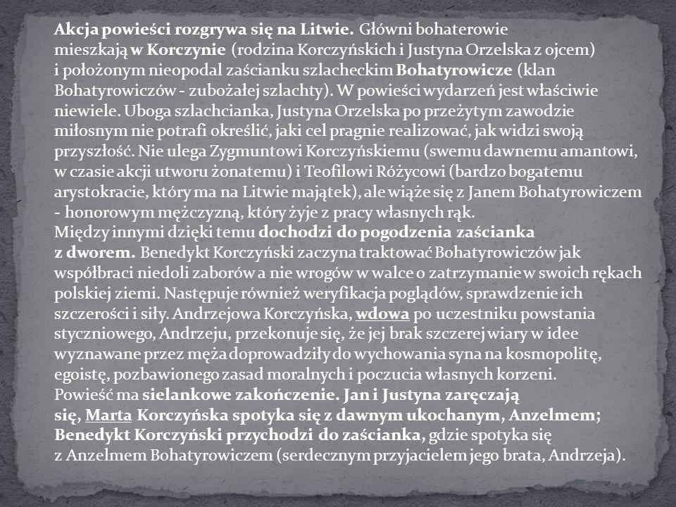 Akcja powieści rozgrywa się na Litwie