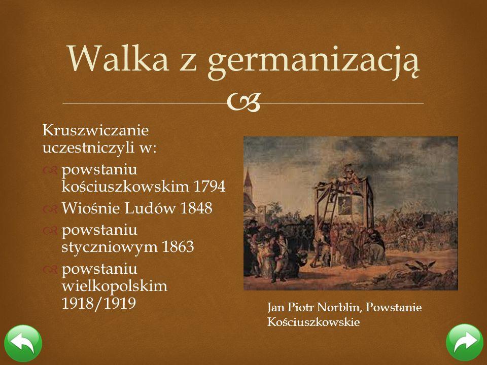 Walka z germanizacją Kruszwiczanie uczestniczyli w: