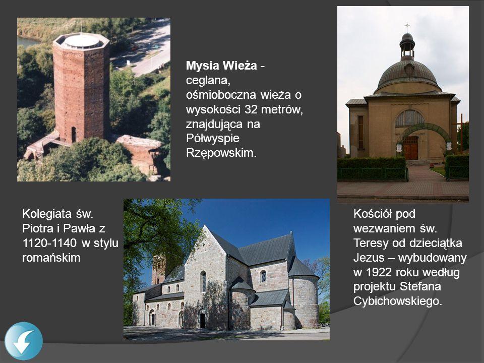 Mysia Wieża -ceglana, ośmioboczna wieża o wysokości 32 metrów, znajdująca na Półwyspie Rzępowskim.