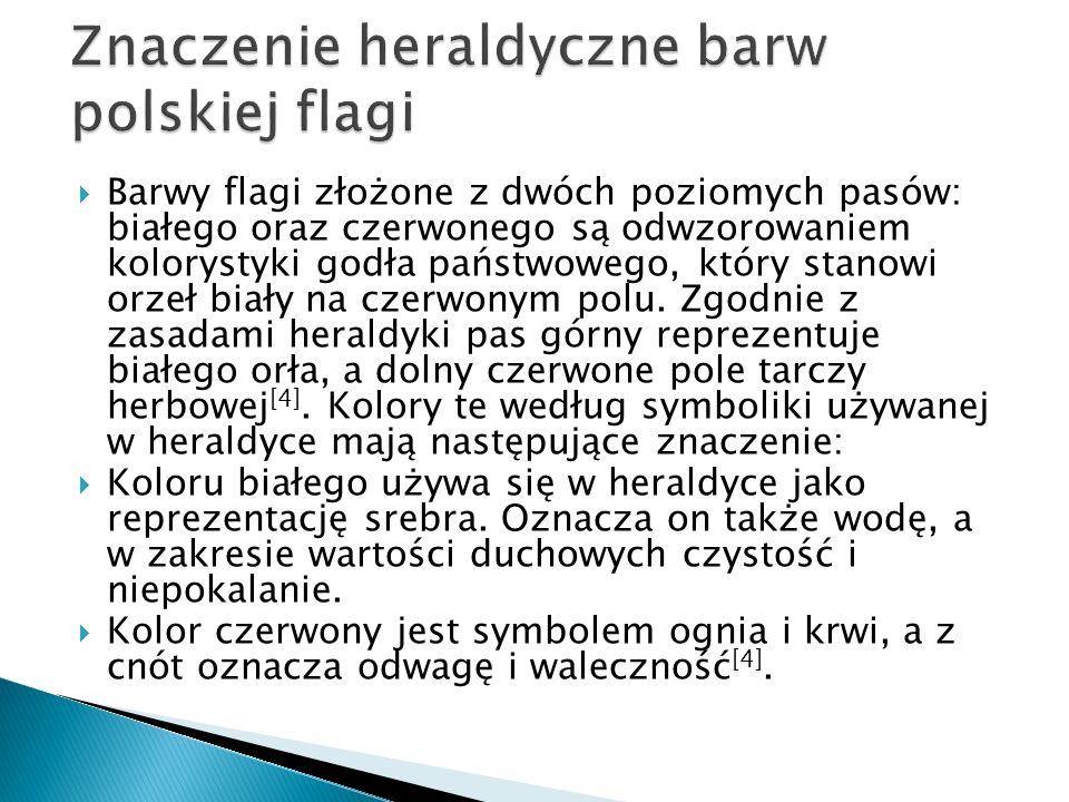 Znaczenie heraldyczne barw polskiej flagi