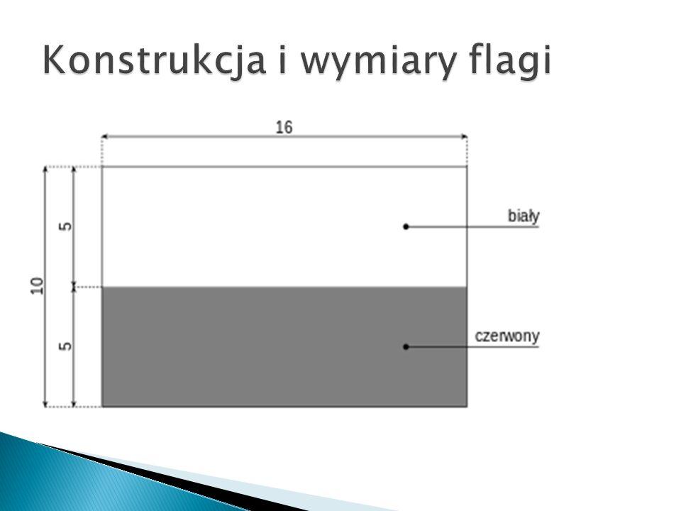 Konstrukcja i wymiary flagi