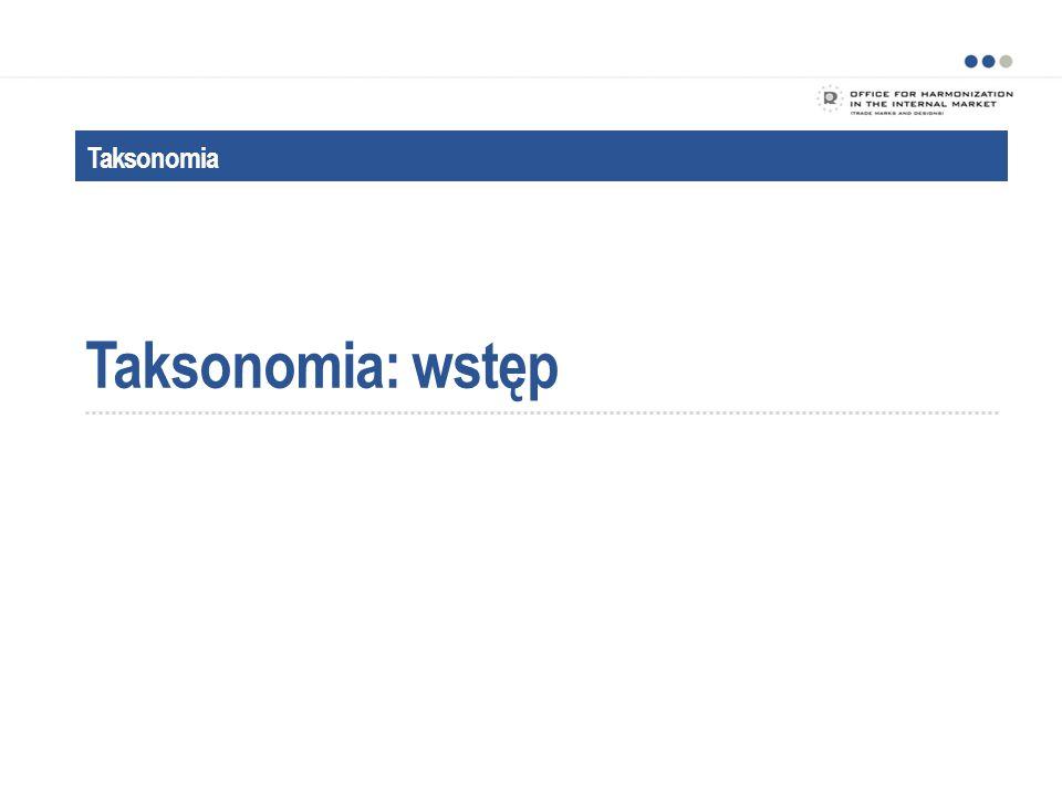 Taksonomia: wstęp Taksonomia Powitanie