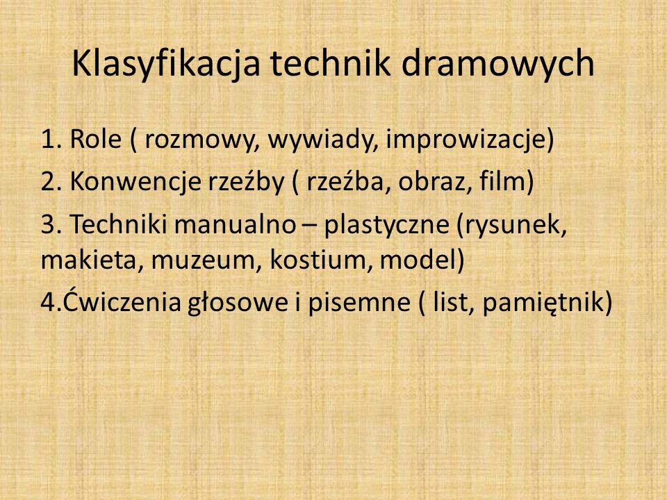 Klasyfikacja technik dramowych