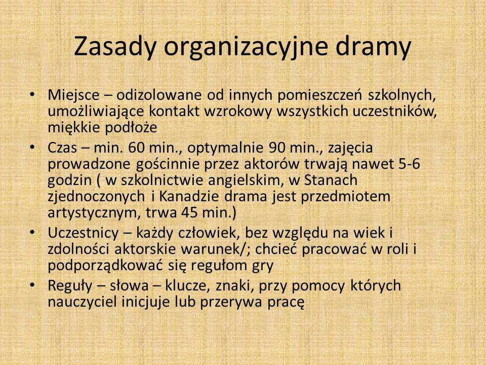 Zasady organizacyjne dramy