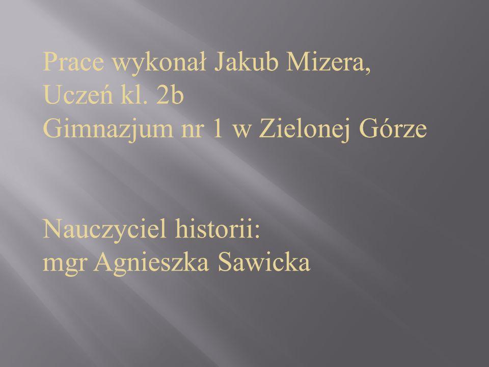 Prace wykonał Jakub Mizera,