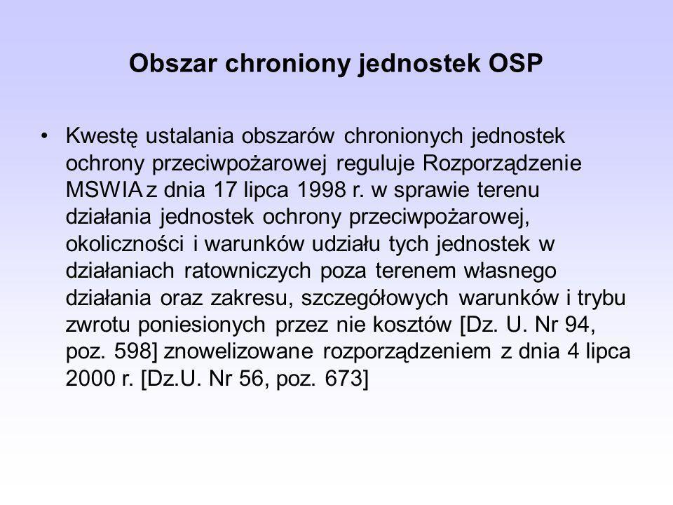 Obszar chroniony jednostek OSP