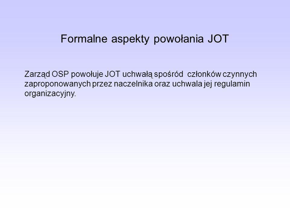 Formalne aspekty powołania JOT