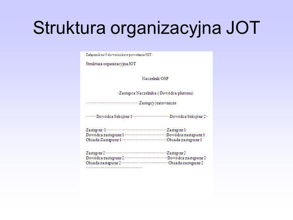 Struktura organizacyjna JOT