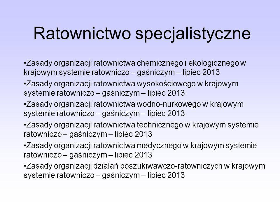 Ratownictwo specjalistyczne