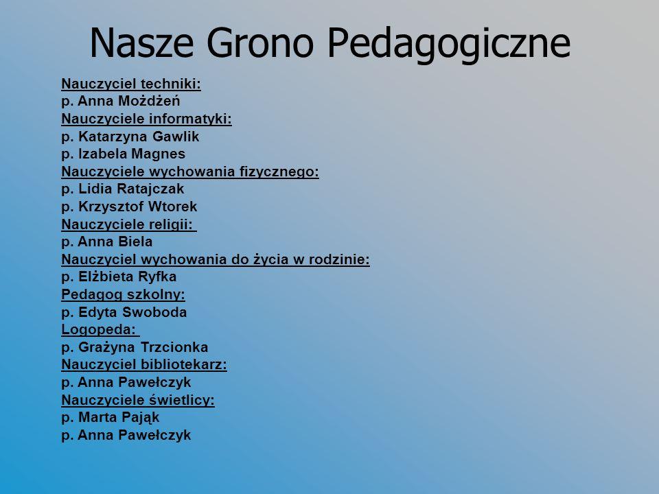 Nasze Grono Pedagogiczne