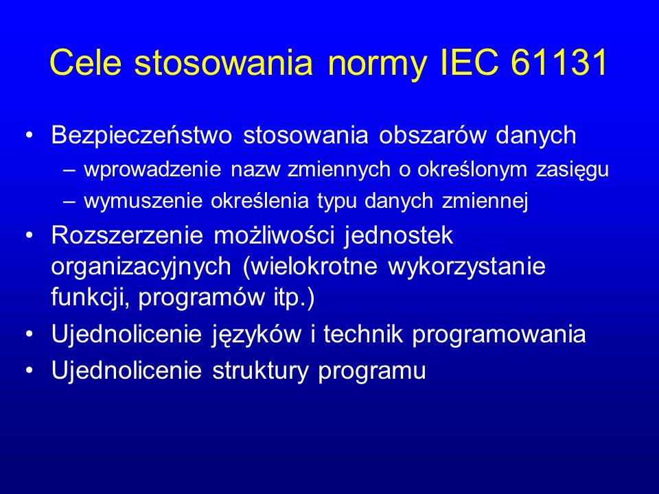 Cele stosowania normy IEC 61131