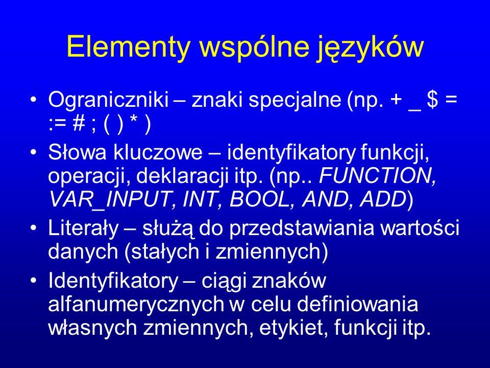 Elementy wspólne języków