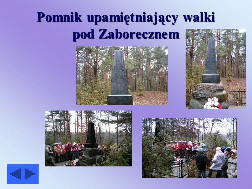 Pomnik upamiętniający walki pod Zaborecznem