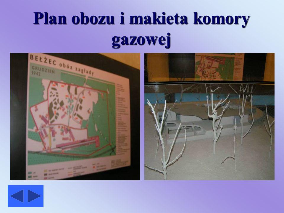 Plan obozu i makieta komory gazowej