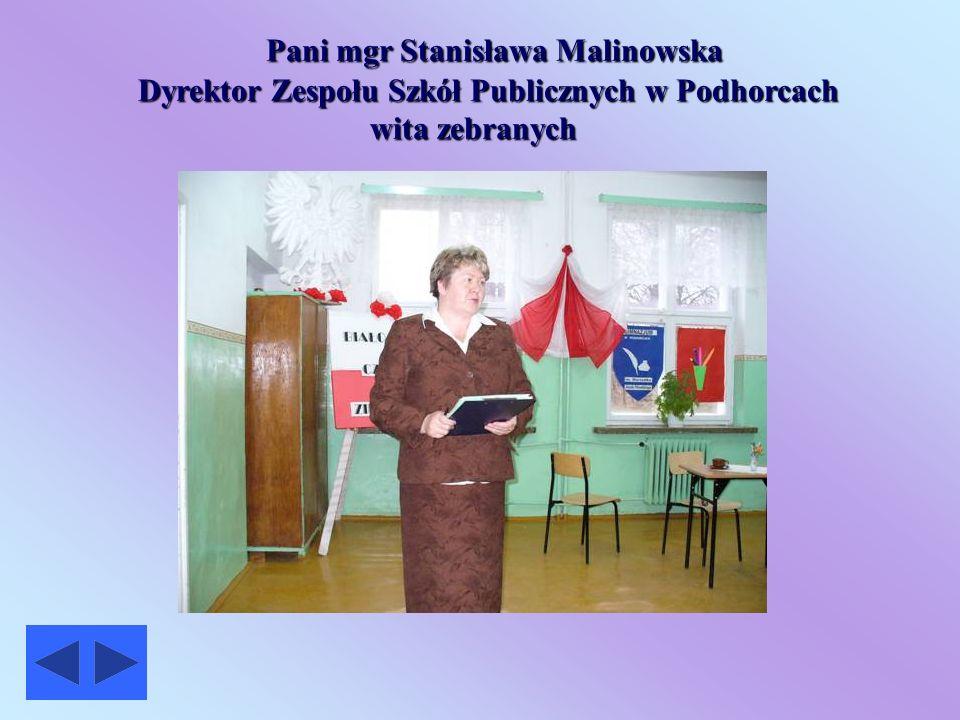 Pani mgr Stanisława Malinowska