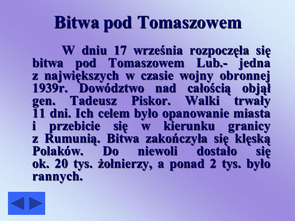 Bitwa pod Tomaszowem