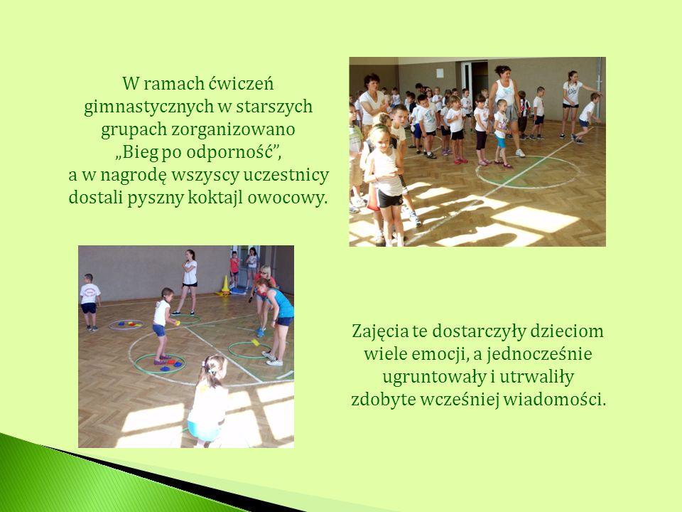 W ramach ćwiczeń gimnastycznych w starszych grupach zorganizowano