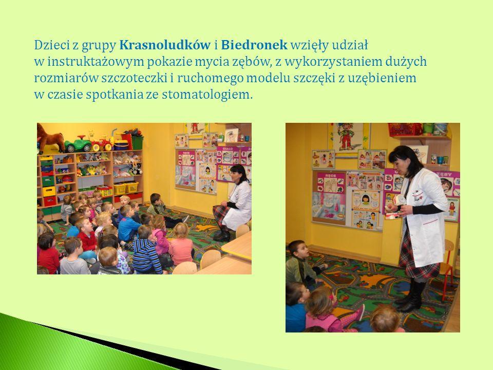 Dzieci z grupy Krasnoludków i Biedronek wzięły udział