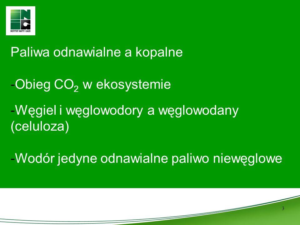 Paliwa odnawialne a kopalne