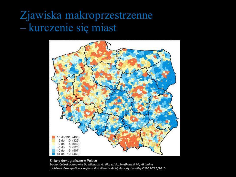 Zjawiska makroprzestrzenne – kurczenie się miast