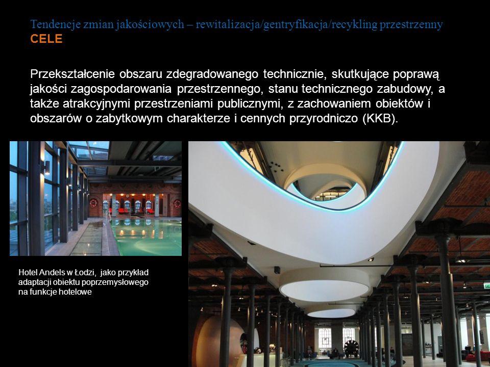 Tendencje zmian jakościowych – rewitalizacja/gentryfikacja/recykling przestrzenny CELE