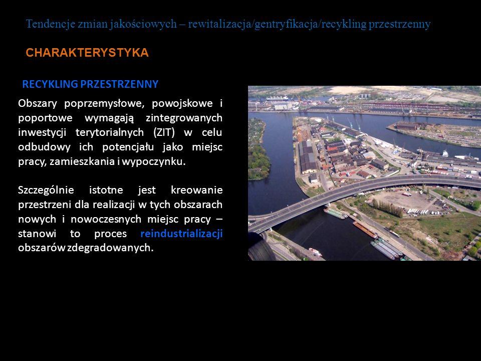 Tendencje zmian jakościowych – rewitalizacja/gentryfikacja/recykling przestrzenny CHARAKTERYSTYKA