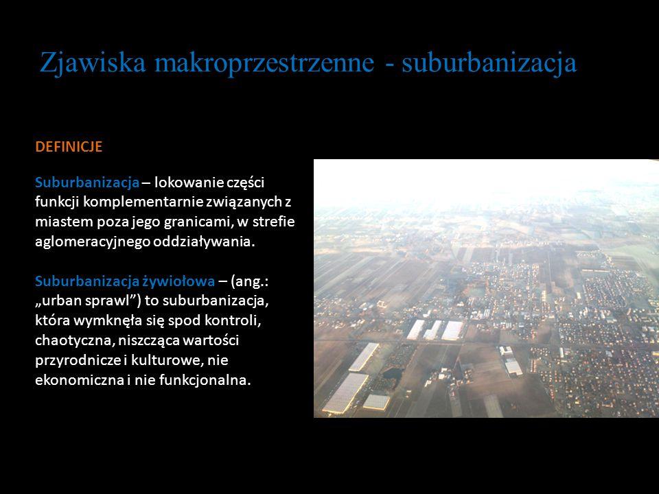Zjawiska makroprzestrzenne - suburbanizacja
