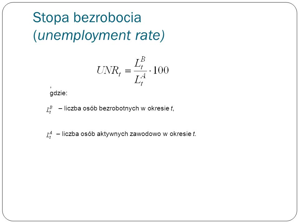 Stopa bezrobocia (unemployment rate)