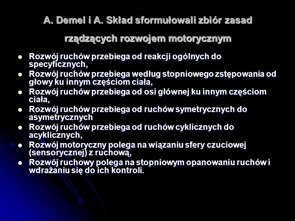 A. Demel i A. Skład sformułowali zbiór zasad rządzących rozwojem motorycznym