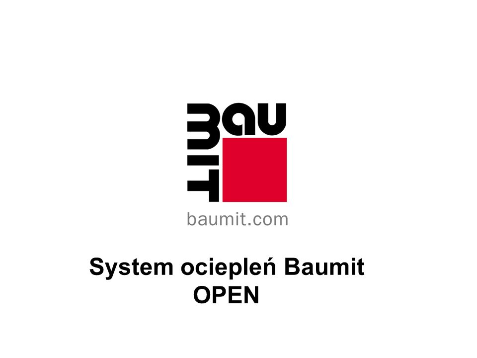 System ociepleń Baumit OPEN