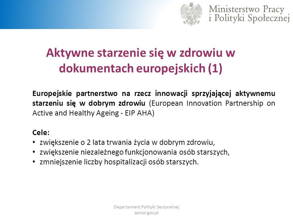 Aktywne starzenie się w zdrowiu w dokumentach europejskich (1)
