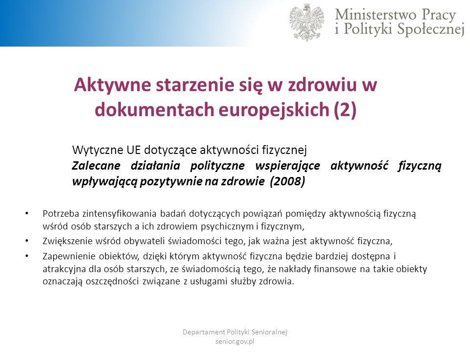 Aktywne starzenie się w zdrowiu w dokumentach europejskich (2)