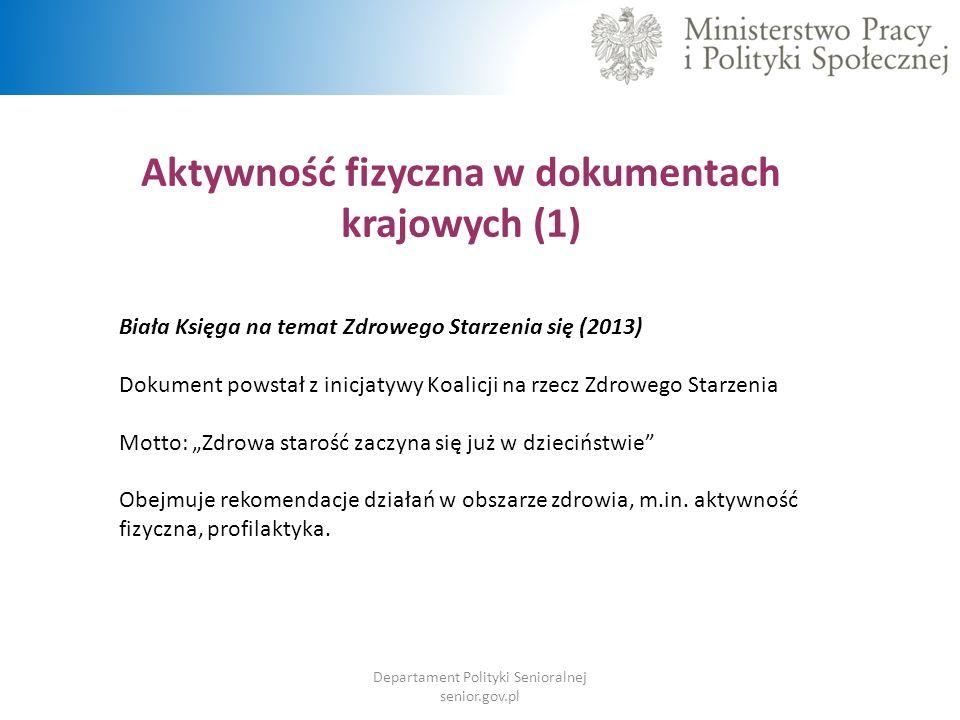 Aktywność fizyczna w dokumentach krajowych (1)