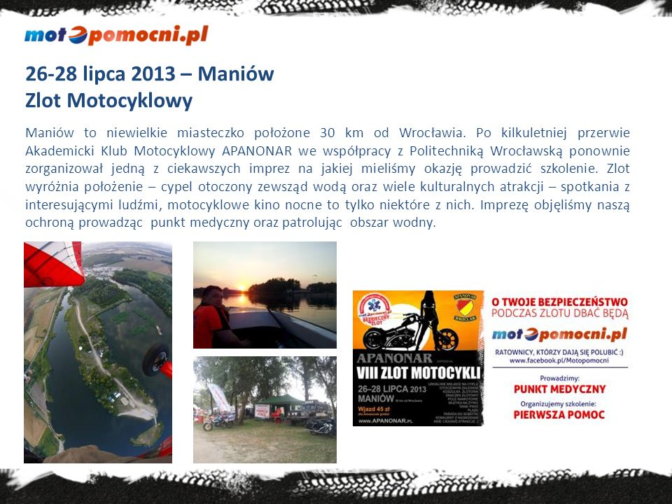26-28 lipca 2013 – Maniów Zlot Motocyklowy