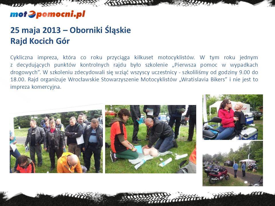 25 maja 2013 – Oborniki Śląskie Rajd Kocich Gór