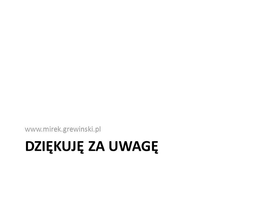 www.mirek.grewinski.pl Dziękuję za Uwagę