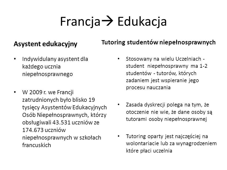 Francja Edukacja Asystent edukacyjny