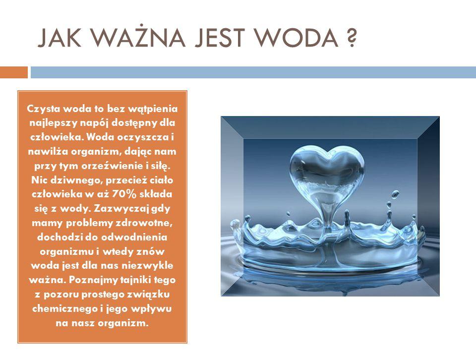 JAK WAŻNA JEST WODA