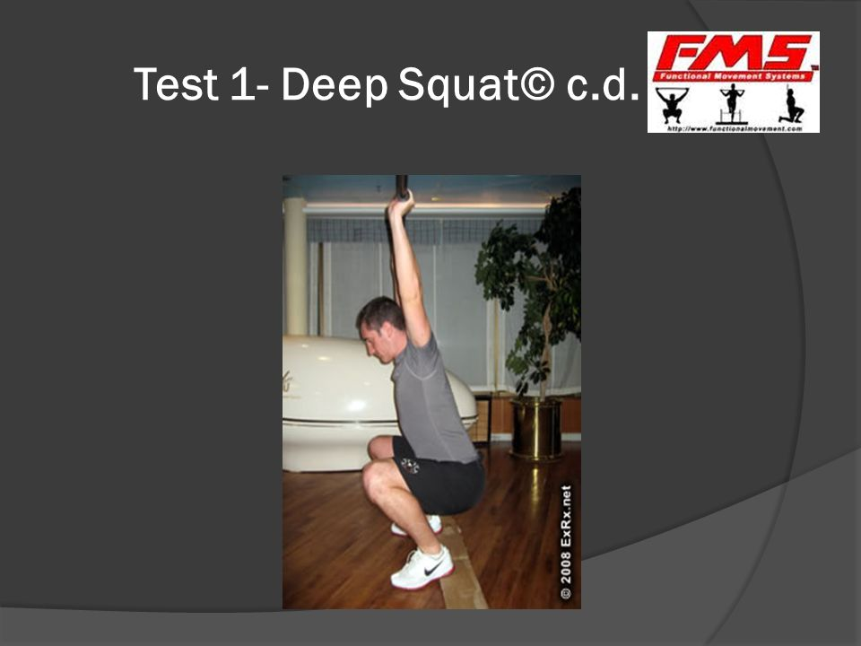 Test 1- Deep Squat© c.d.