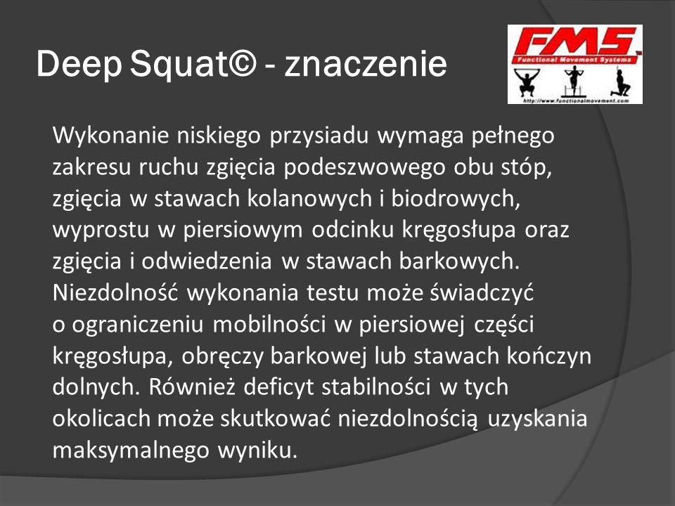 Deep Squat© - znaczenie