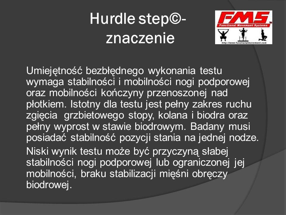 Hurdle step©- znaczenie