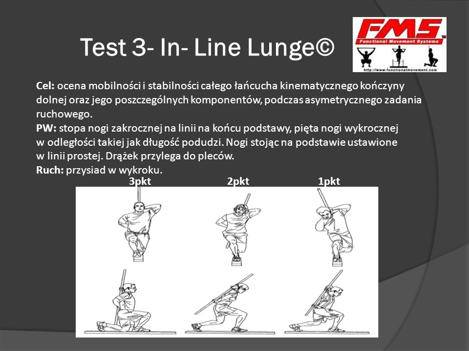 Test 3- In- Line Lunge©